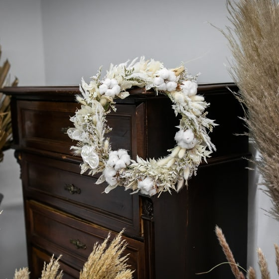 Dry_Flower_Kranz_baumwolle_Weisss_Wandschmuck_Wandkranz (3)