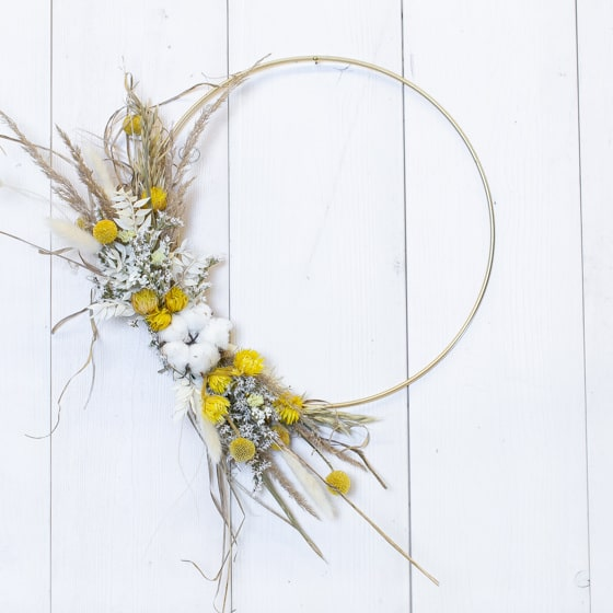 Dry_Flower_Loop_Gold_Ring_Gelb_Yellow_Wandschmuck_Kranz (4)