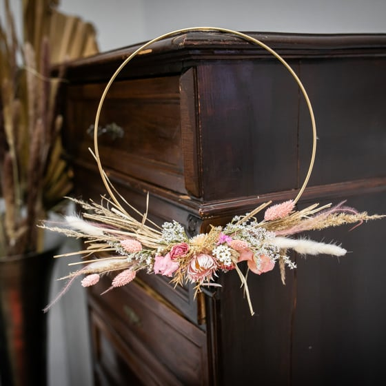 Dry_Flowers_Loop_Gold_Ring_Rosa_Wandschmuck_TÅrkranz (3)